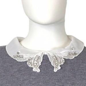 Vila Milano NEW Crystal Collar Gray Pullover